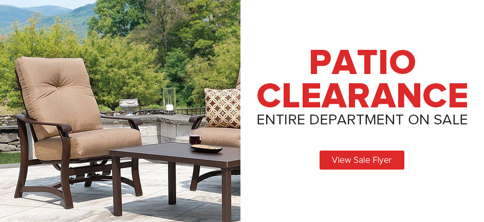 Patio Clearance Sale - Entire Department On Sale